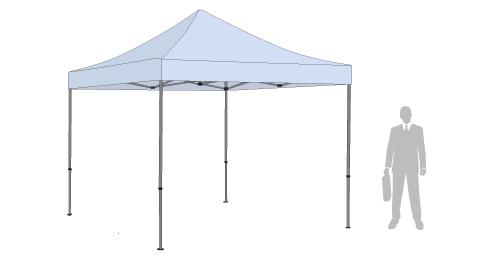 Namiot reklamowy 3x3 m z nadrukiem SPDESIGN
