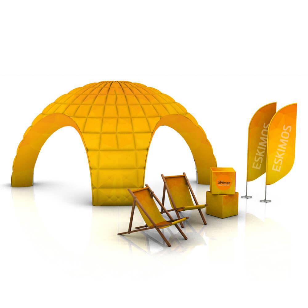 Namiot pneumatyczny ze ścianami 4x4m SKLEP REKLAMOWY